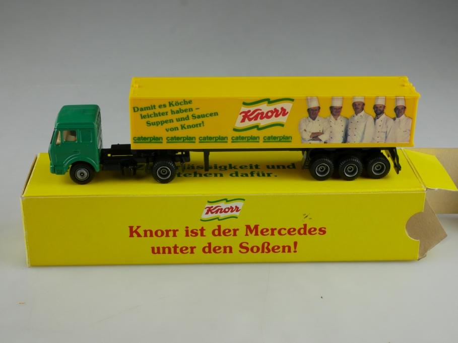 Knorr Werbemodell 1/87 Mercedes Benz Truck Lkw mit Sattelauflieger  Box 514814