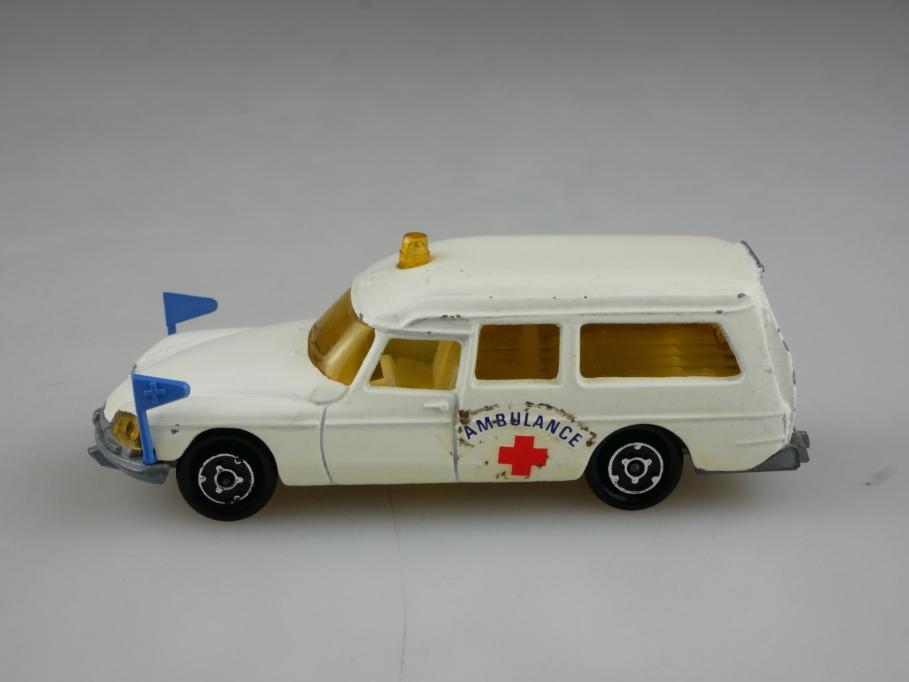 206 Majorette 1/65 Citroen DS 21 Ambulance Rotkreuz Krankenwgn. ohne Box 514836