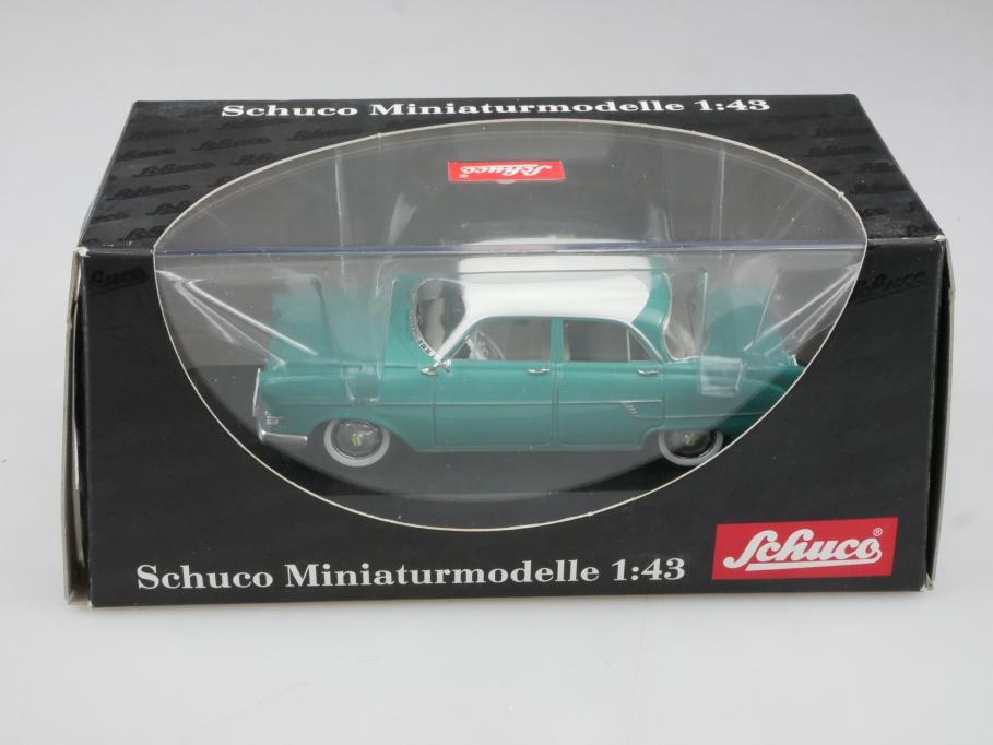 2631 Schuco 1/43 Opel Kapitän 1956 twotone türkis weiß mit Box 514874
