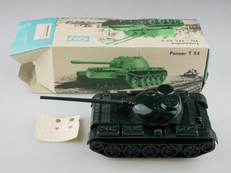 Pneumant Spielzeug ca. 1/50  Panzer T 54 Kunststoff & Friktion DDR cccp 514882