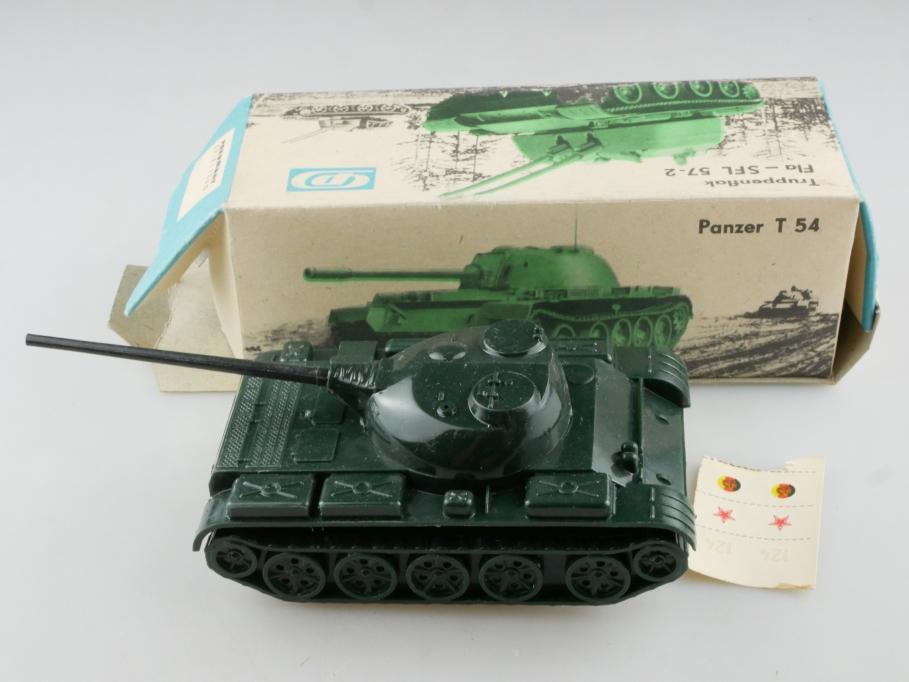 Pneumant Spielzeug ca. 1/50  Panzer T 54 Kunststoff & Friktion DDR cccp 514884