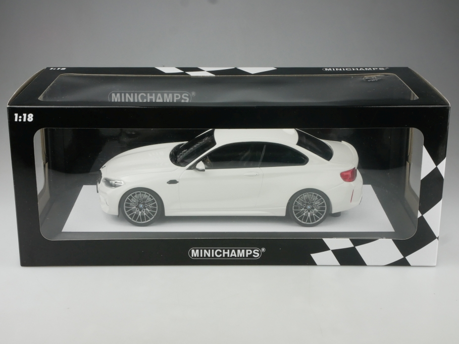 Minichamps 1/18 BMW M2 Competition Coupe 2019 limited white mit Box 514959