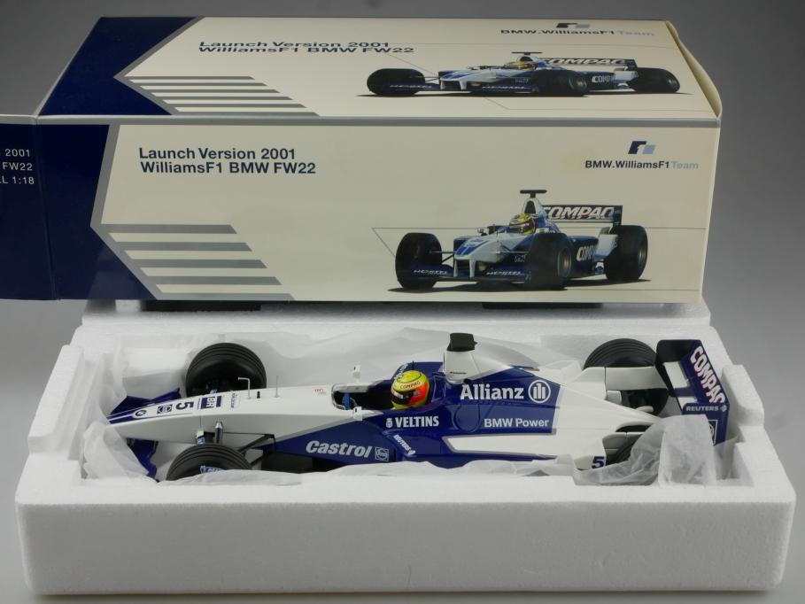 Minichamps 1/18 Williams F1 FW22 Launch Version 2001 Händleredi. BMW  Box 514962
