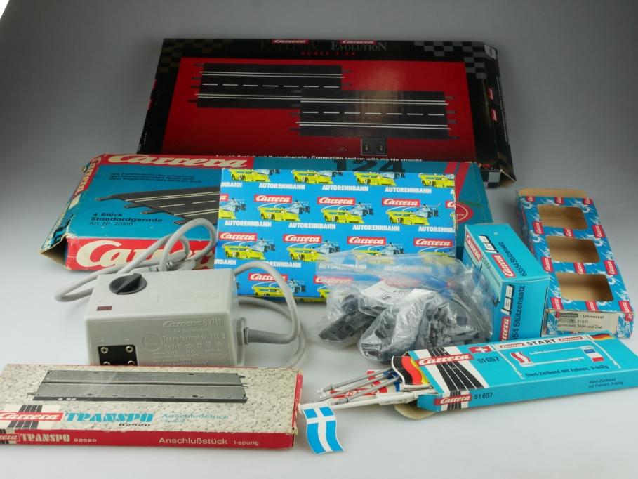 Carrera Evolution Universal 1/32 Trafo Schienen Flaggen Konvolut mit Box 515059