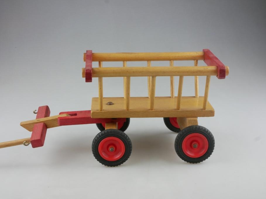 Hersteller ? ca. 1/8 Länge 20cm Holz Leiter-Puppen-Kutschwagen ohne  Box  515071