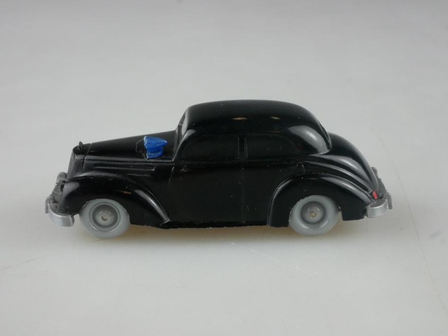 Saure 281 Wiking 1/87 Mercedes Benz 220 Polizeiwagen unverglast schwarz 515089