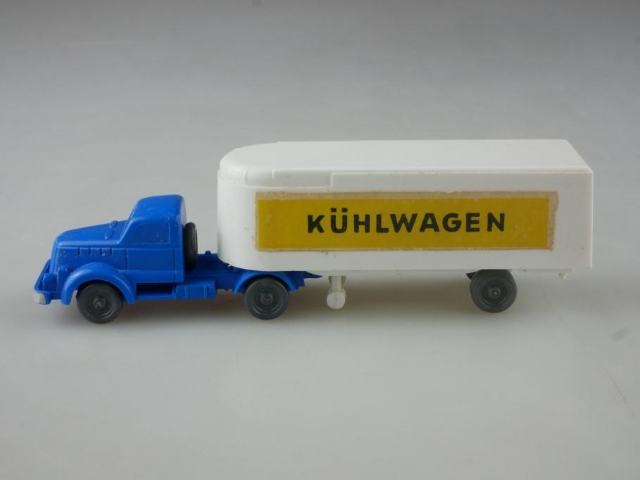 Saure 195 Wiking 1/87 White Typ 1 Kühlwagen Sattelzug himmelblau ohne Box 515093
