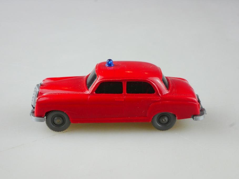 Saure 1041 Wiking 1/87 Mercedes Benz 220 Ponton Feuerwehr rot ohne Box 515097