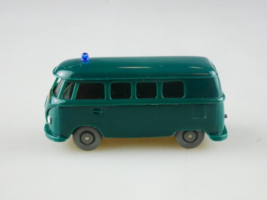 Saure 1084 Wiking 1/87 VW T1 Bus Volkswagen Polizei blaugrün ohne Box 515099