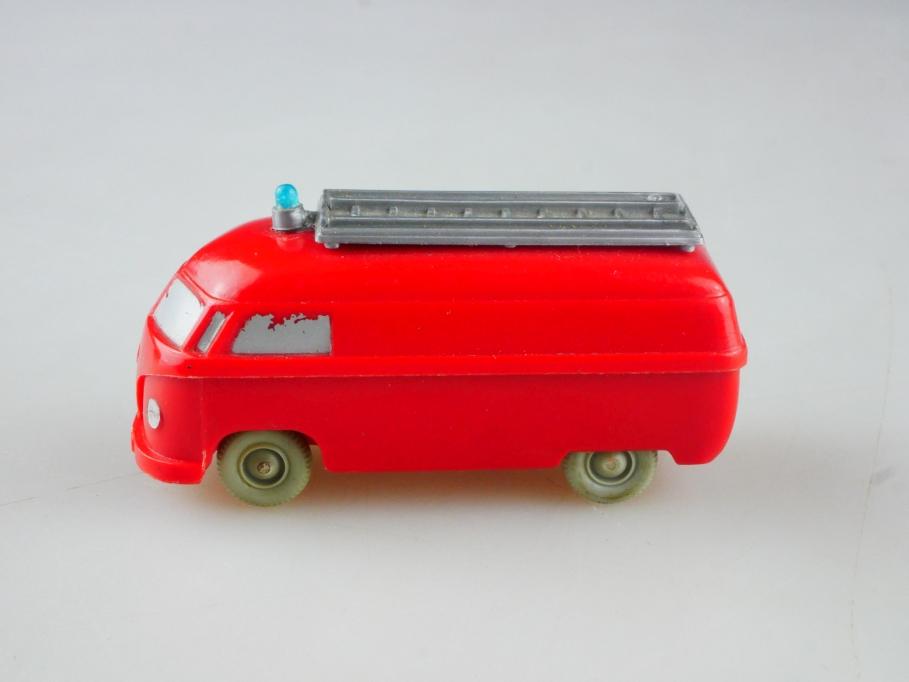 Saure 261 Wiking 1/87 VW T1 Feuerwehr Bus orangerot unverglast ohne Box 515127