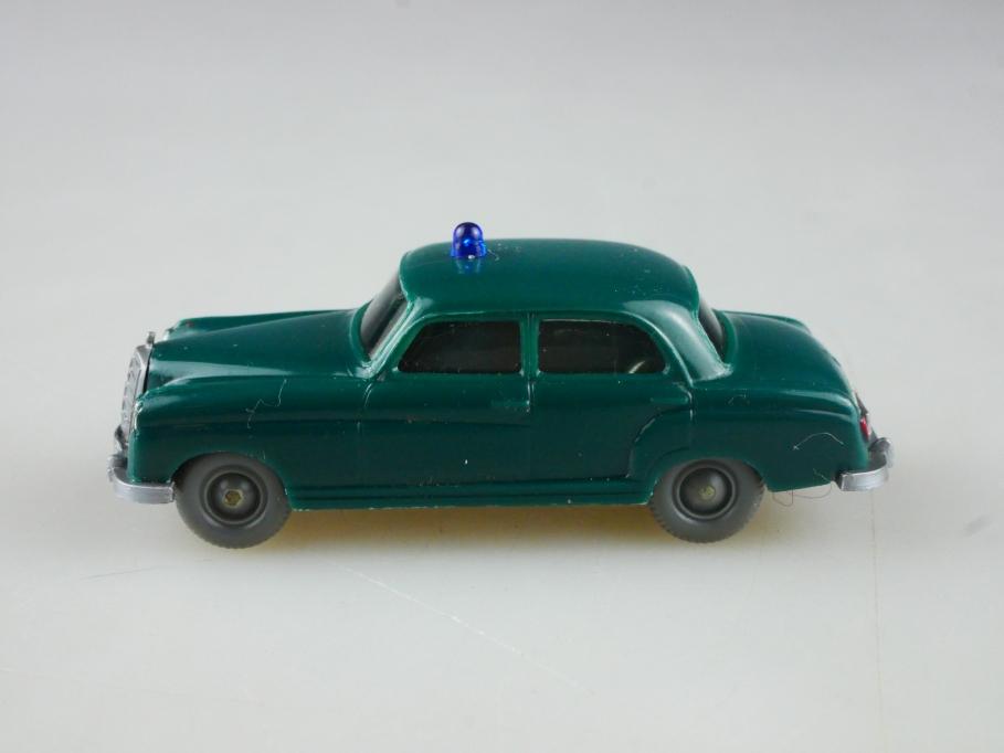 Saure 1081 Wiking 1/87 Mercedes Benz 220 Ponton Polizei blaugrün ohne Box 515131