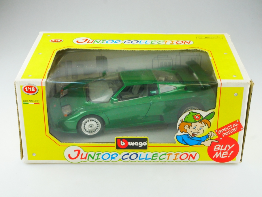 Bburago 1/18 Bugatti EB 110 GT greenmetallic Junior Collection mit Box 515153