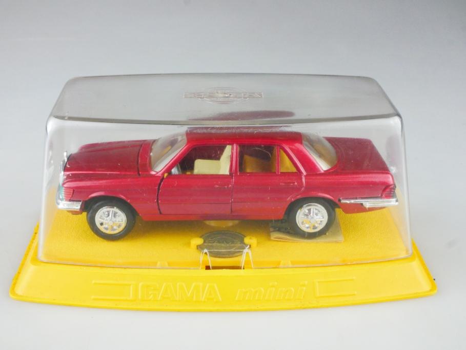 9680 Gama 1/43 Mercedes Benz 350 SE W 116 candyredmet. mit Box 515178
