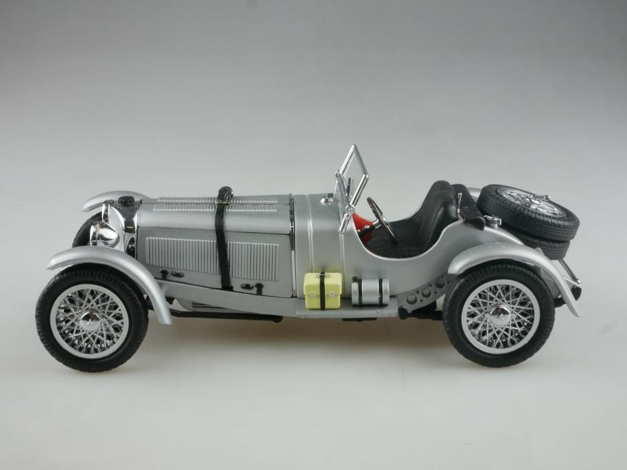 Asahi 1/24 Mercedes Benz SSKL Roadster 1929 silvermetallic ohne Box 515282