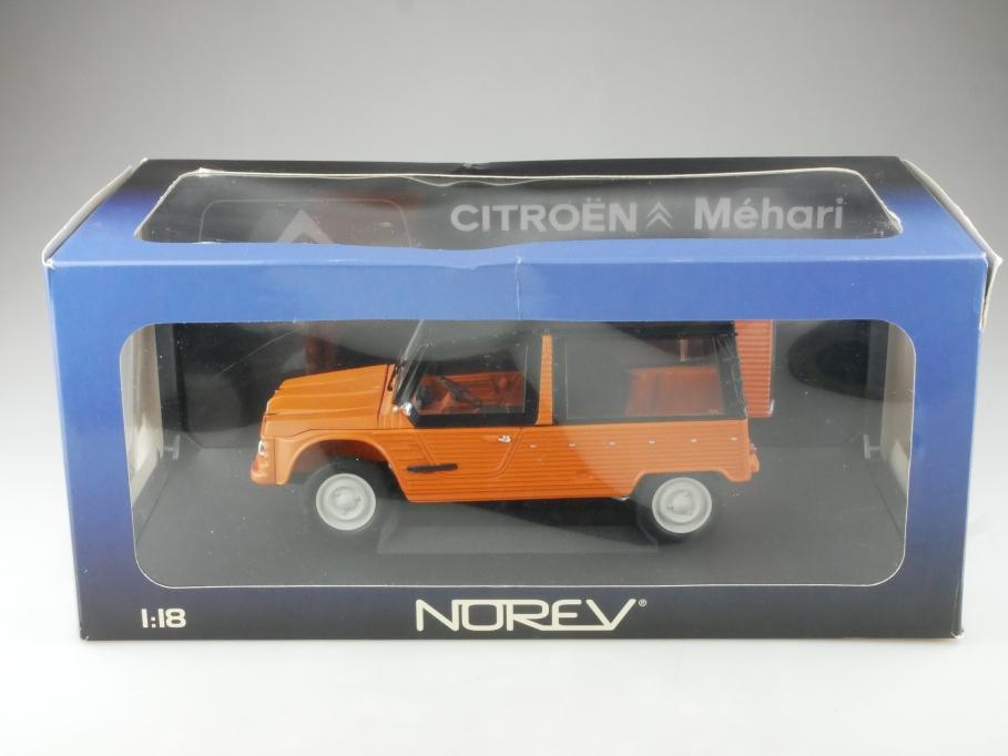 Norev 1/18 Citroen Mehari 4x4 Jeep Geländewagen auf Enten Basis mit Box 515316