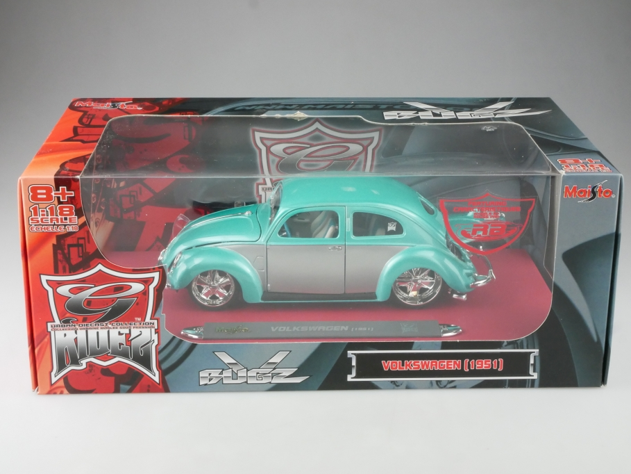 Maisto 1/18 VW Bug Beetle Bugz G Ride Custom Brezelfensterkäfer 1951 Box 515331