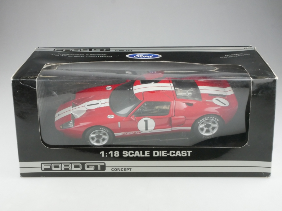 Pauls Model Art Beanstalk Group 1/18 Ford GT Concept Design Retrocar Box 515337