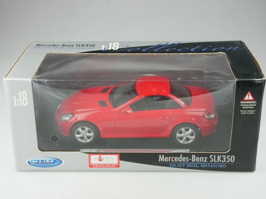 Welly 1/18 Mercedes Benz SLK 350 Roadster Hardtop R 171 mit Box  515349
