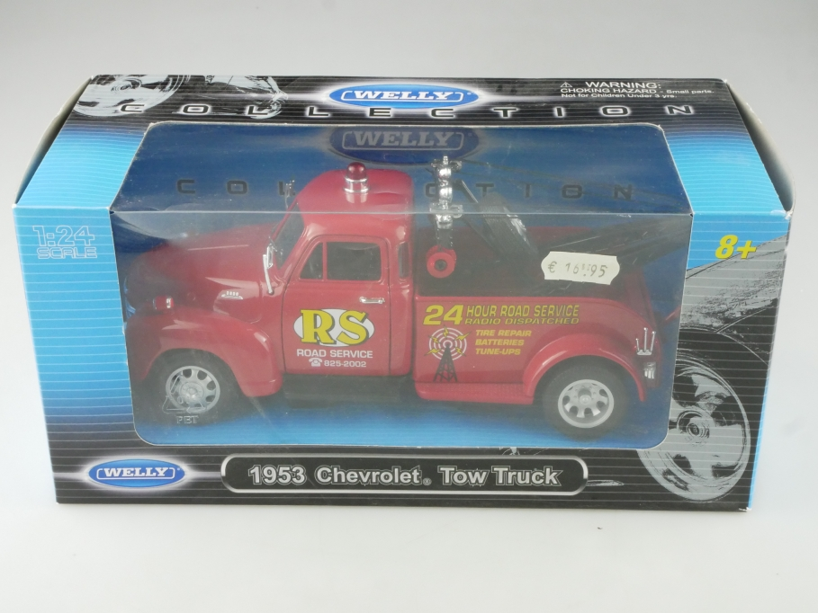 Welly 1/24 Chevrolet 3100 Tow Truck 1953 Wrecker Road Service mit Box 515381