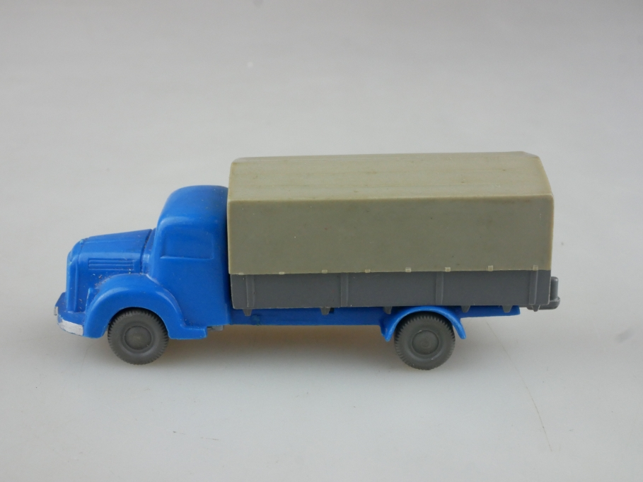 Saure 159 Wiking 1/87 Mercedes Benz 3500 Pritsche himmelblau basaltgrau 515426
