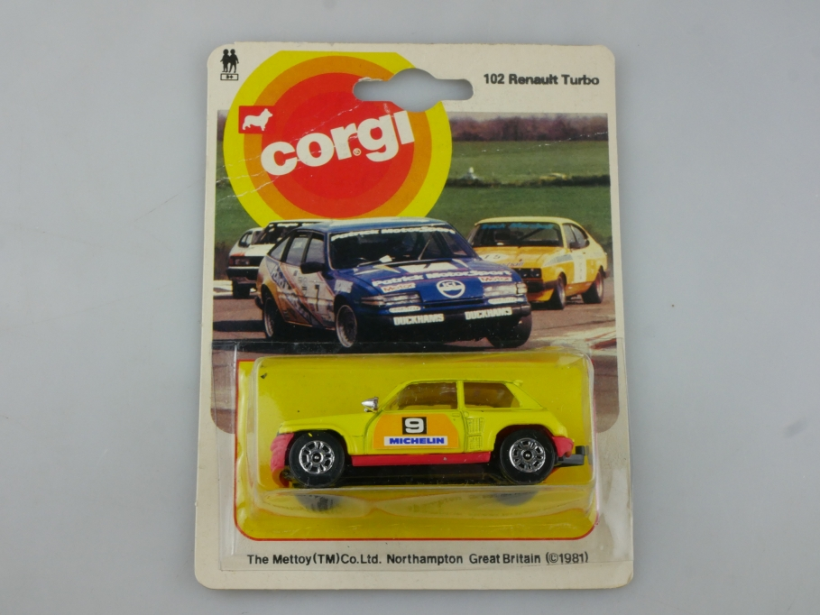 102 Corgi Juniors 1/64 Renault 5 Turbo Tourenwagen Racer Michelin mit Box 515458