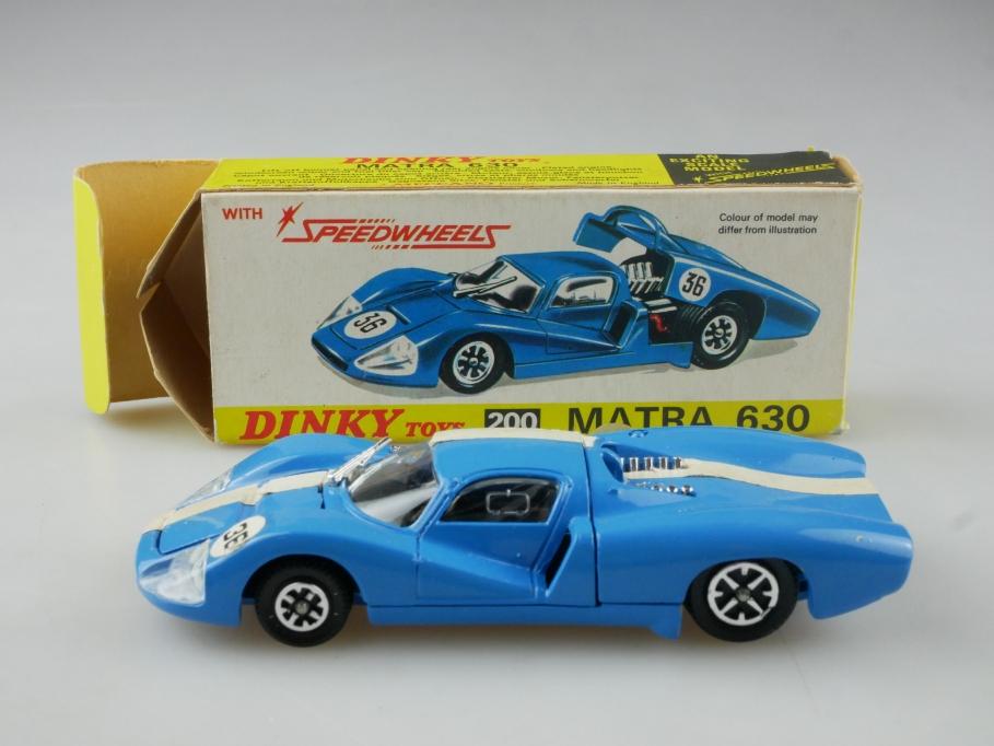 200 Dinky Toys 1/43 Matra 630 Le Mans Racer Speedwheels Rennwagen mit Box 515466