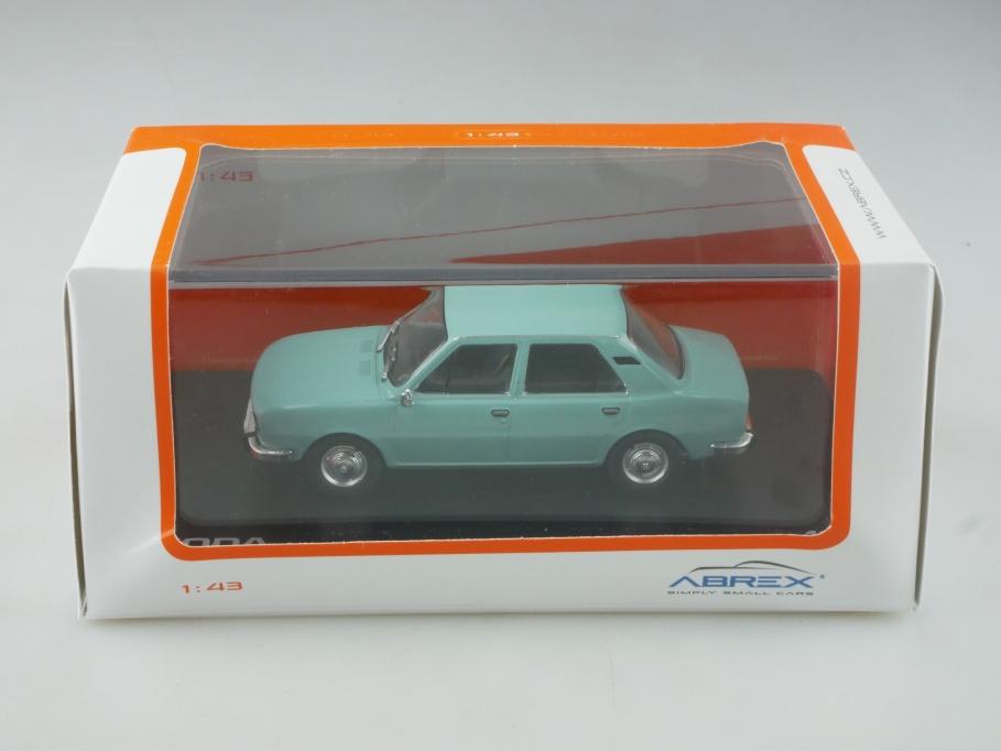 Abrex 1/43 Skoda 105 L Limousine 1977 türkis mit Box 515506