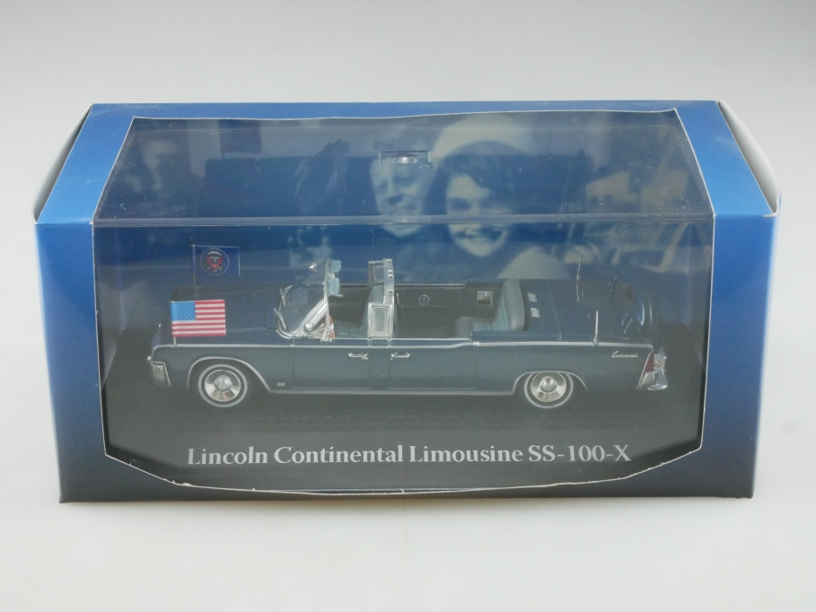 Atlas Norev 1/43 Lincoln Continental Limousine SS 100 X Kennedy mit Box 515508