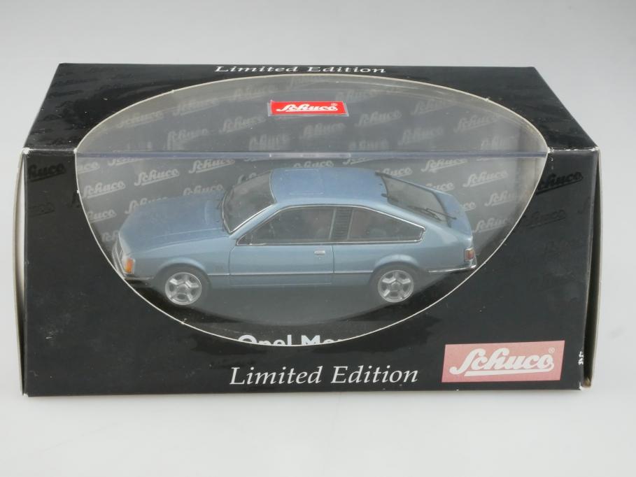 2951 Schuco 1/43 Opel Monza A Coupe aquamarinblaumetallic mit Box 515526