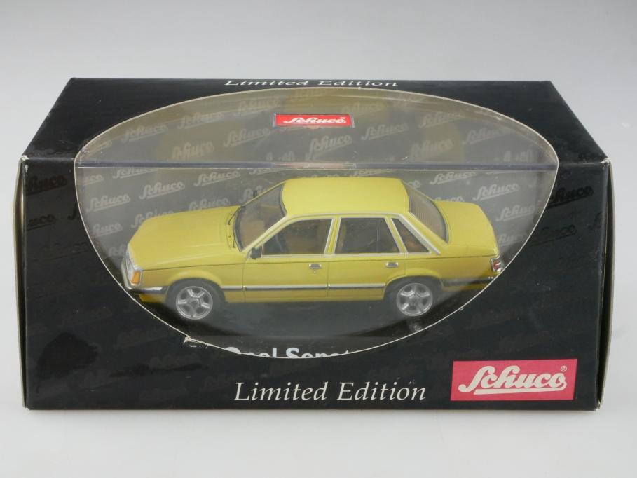 3302 Schuco 1/43 Opel Senator A Limousine jamaicagelb Limited mit Box 515527