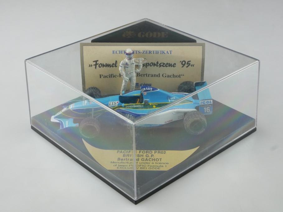 Onyx Göde 1/43 Pacific Ford PR 02 Formel 1 Rennwagen Racer Gachot m. Box 515551