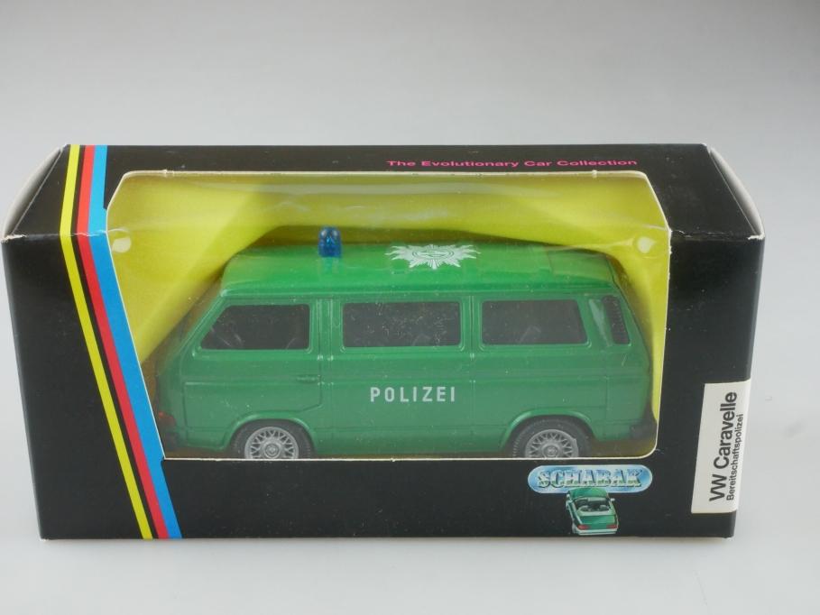1047 Schabak 1/43 VW T3 Caravelle Bereitschaftspolizei Volkswagen mit Box 515574