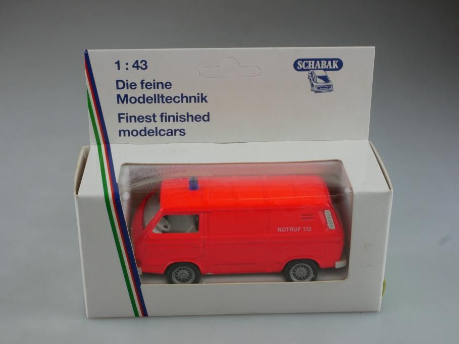 1043 Schabak 1/43 VW T3 Feuerwehr Gerätewagen Volkswagen mit Box 515576