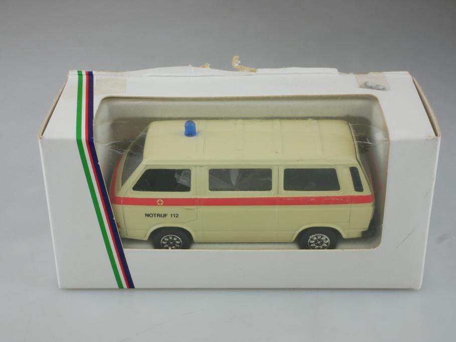 Schabak 1/43 VW T3 Rotkreuz Krankentransport Volkswagen mit Box 515575