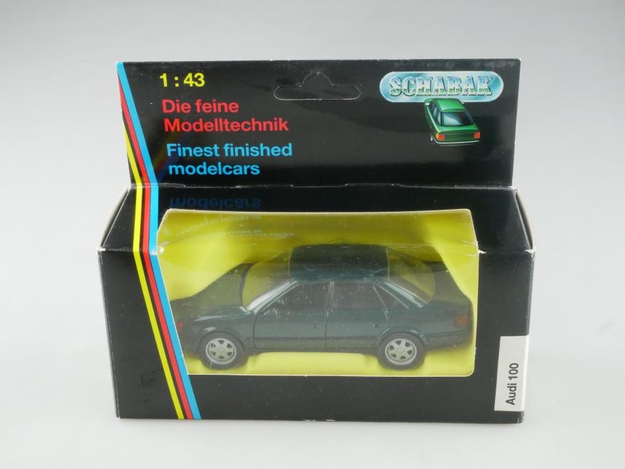 1052 Schabak 1/43 Audi 100 C 4 darkgreenmetallic 1990 mit Box 515585