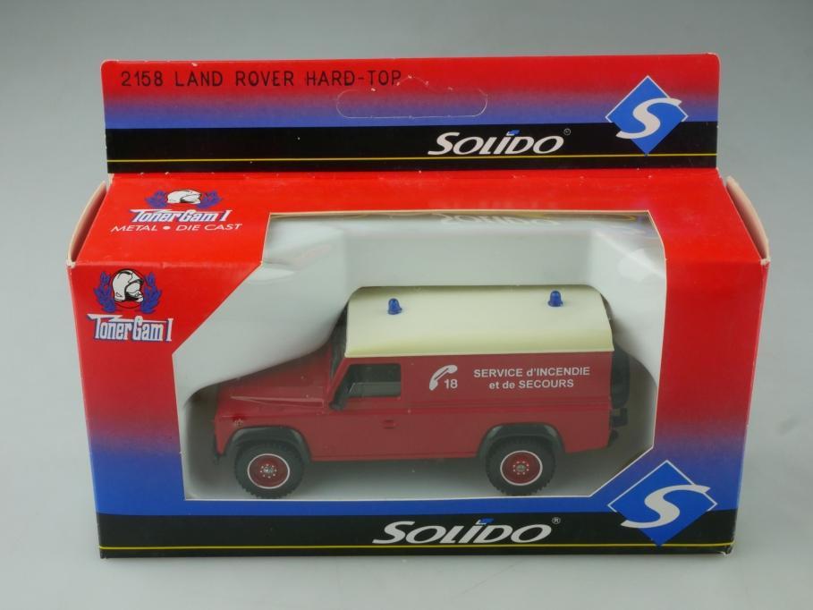 2158 Solido 1/43  Land Rover Defender 110 Hardtop Van Feuerwehr Box 515623