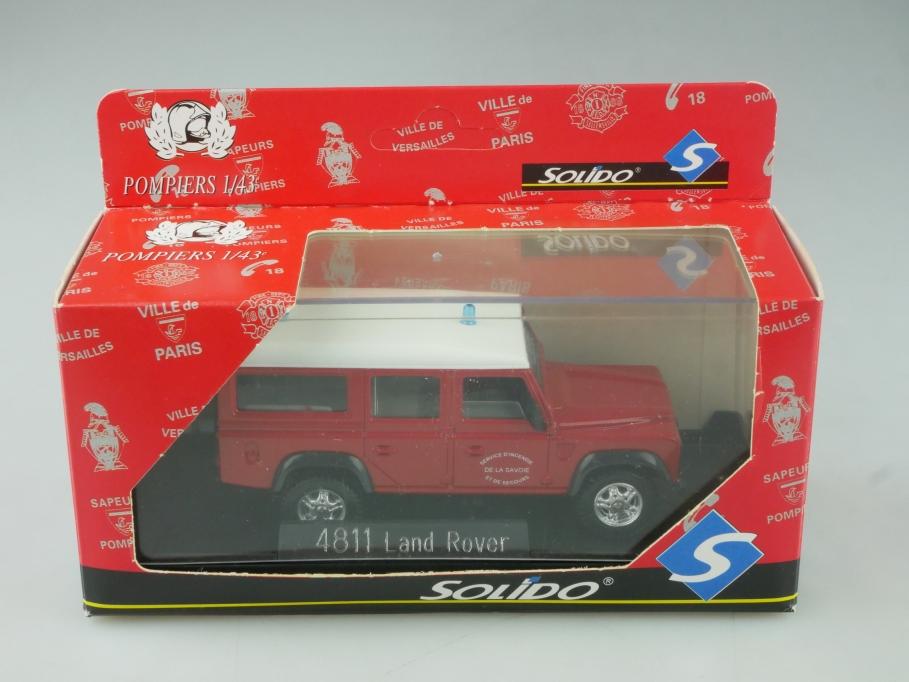 4811 Solido 1/43  Land Rover Defender 110 Van  Pompiers Feuerwehr Box 515624