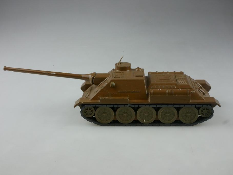 Novoexport 1/43 SU 100 Sovjet Panzer Tank NVA DDR braun ohne Box  515646