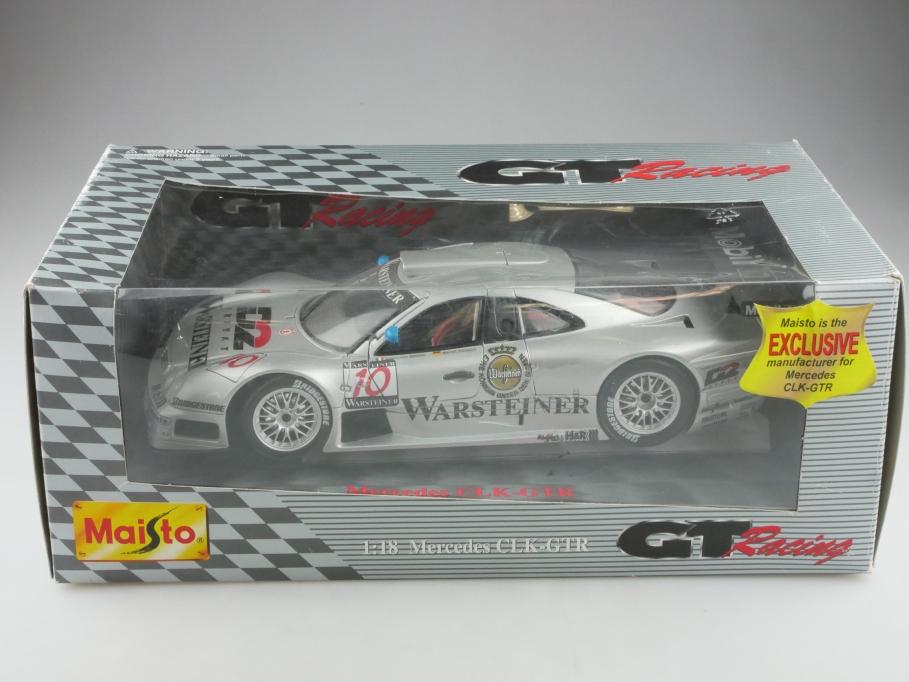 Maisto 1/18 Mercedes Benz CLK GTR Racing DTM Tiemann mit Box  515663