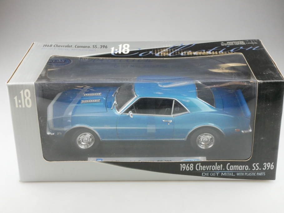 2556b Welly 1/18 Chevrolet Camaro 1968 Hardtop Coupe SS 396 mit Box  515664