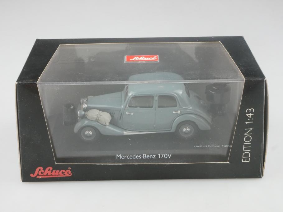 2469 Schuco 1/43 Mercedes Benz 170 V Holzvergaser grey mit Box  515677