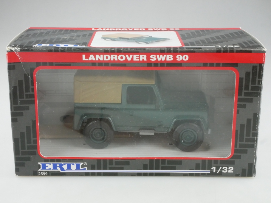 2599 Ertl 1/32 Land Rover SWB 90 Defender Pickup Softtop mit Box  515685