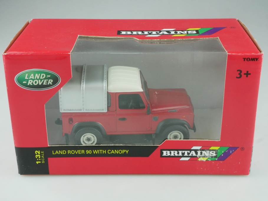 42732 Britains 1/32 Land Rover SWB 90 Defender Pickup Canopy mit Box  515686