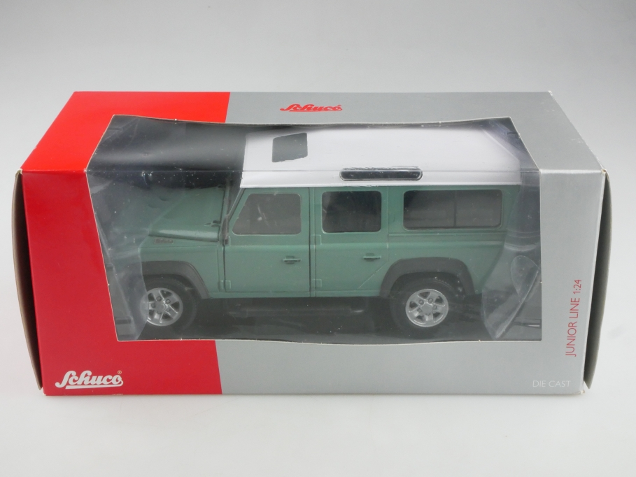 Schuco 1/24 Land Rover SWB 90 Defender Pickup Canopy mit Box  515687