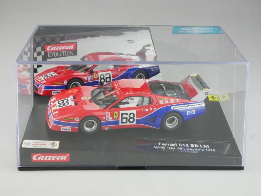 Carrera Evolution 1/32 Ferrari 512 BB LM Daytona 1979 Nart mit Box 515738