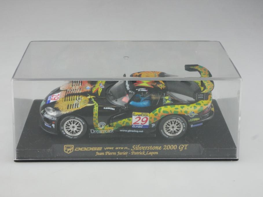 Fly 1/32 Slotcar Dodge Viper GTS R Silverstone 2000 GT mit Box 515743