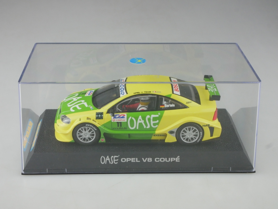 Scalextric 1/32 Slotcar Opel V8 Coupe DTM Bartels Oase mit Box 515747