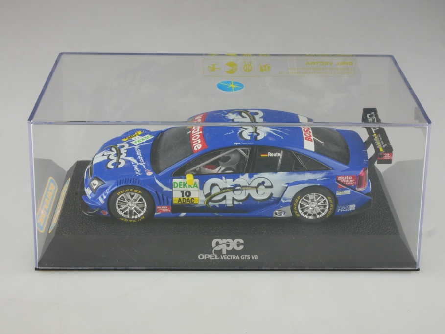 Scalextric 1/32 Slotcar Opel Vectra GTS V8 OPC Coupe DTM Reuter mit Box 515748