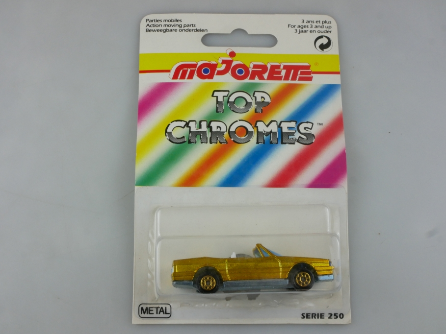 255 Majorette 1/59 Top Chromes Cadillac Allante Convertible chromgelb Box 515768