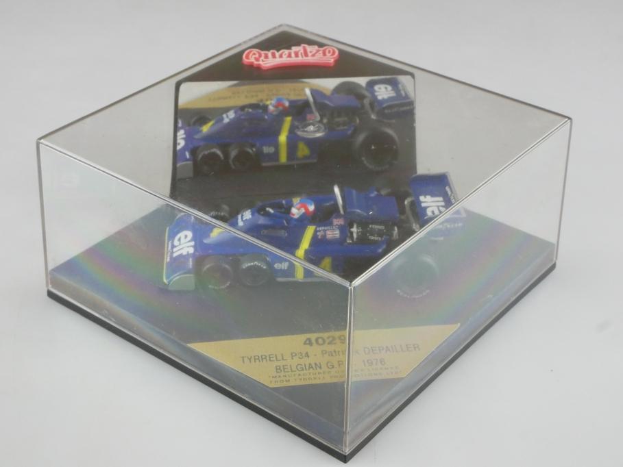 4029 Quartzo 1/43 Tyrrel P4 Formel 1 Depailler Belgian GP 1976 mit Box 515771